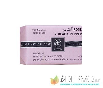 MINI NATURAL SOAP CON ROSA & PIMIENTA