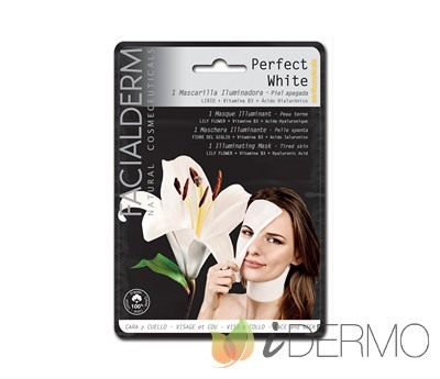 PERFECT WHITE Mascarilla intensiva iluminadora cara y cuello