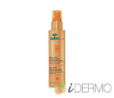 LECHE CORPORAL Y FACIAL EN SPRAY PROTECCIÓN MEDIA SPF 20