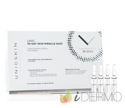 UNIC30-DAY SKIN MIRACLE SHOT CONCENTRADO DETOX NOCTURNO