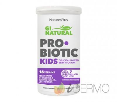 GI NATURAL PROBIOTIC KIDS 30 COMP. MASTIC.