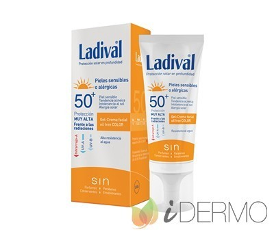 LADIVAL PIELES SENSIBLES FPS50+ CON COLOR